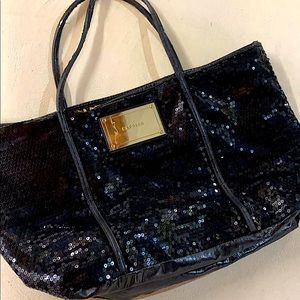 Black Sequined Express Tote